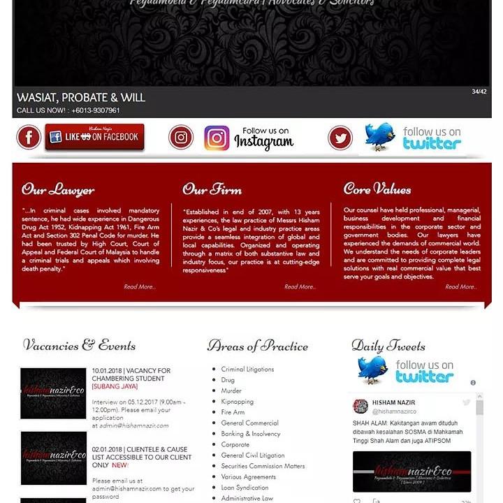 Our elegant website