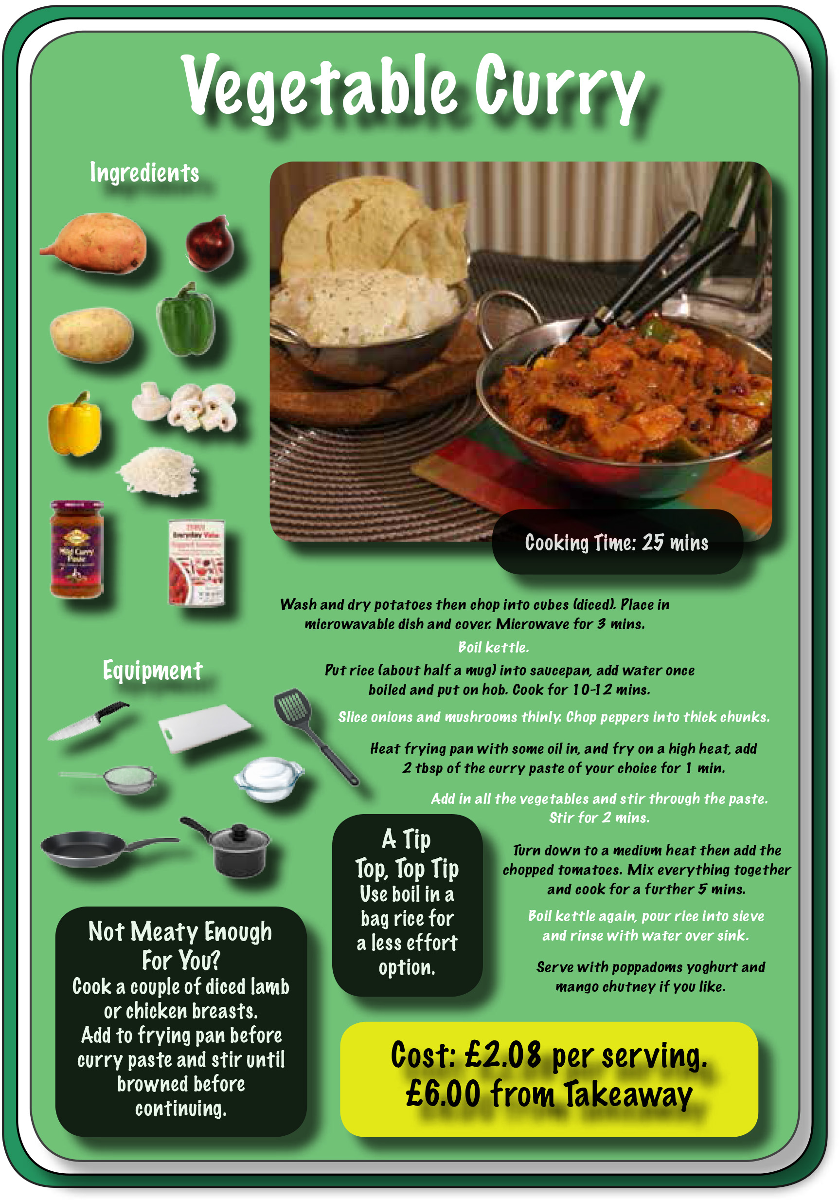 'Just Cook' Recipe Cards