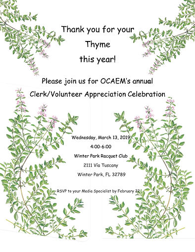 Clerk-Volunteer Appreciation Invitation