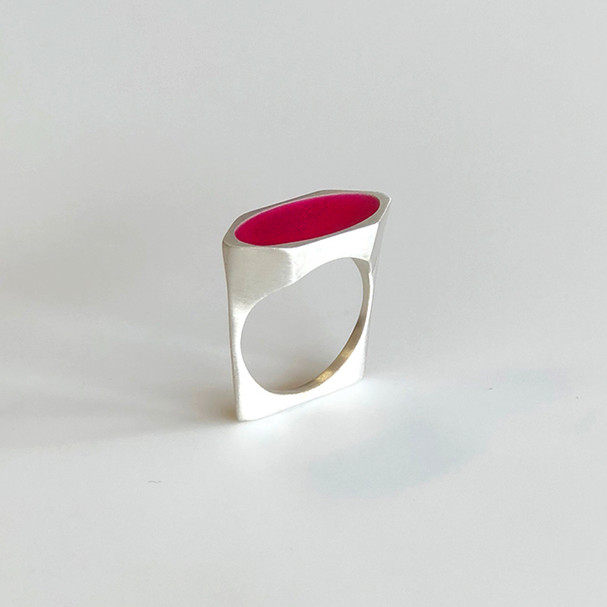 Shard ring - sterling silver and resin