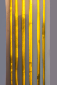 Timber and resin lamp