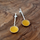 Thumbnail: 'Pond' earrings with yellow resin