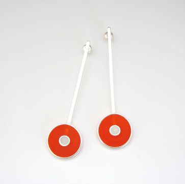 Orbit earrings - sterling silver and resin