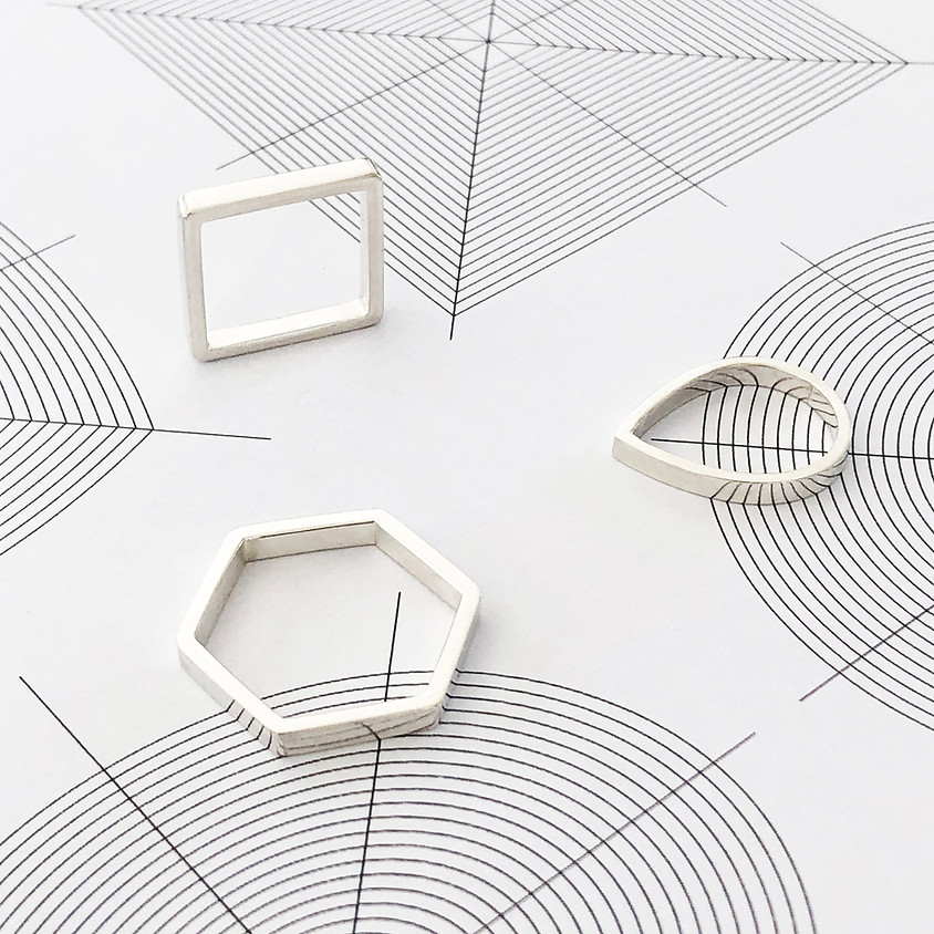 RESERVED for Liz and Leanne - Geometric shapes for jewellery workshop
