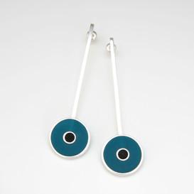 Orbit earrings - sterling silver and resin
