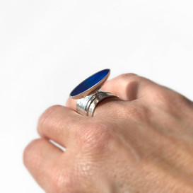 Aalto ring - sterling silver and resin