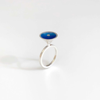 Vessel ring - sterling silver and resin