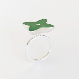 Moar ring - sterling silver and resin