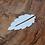 Thumbnail: Silver 'Leaf' bookmark