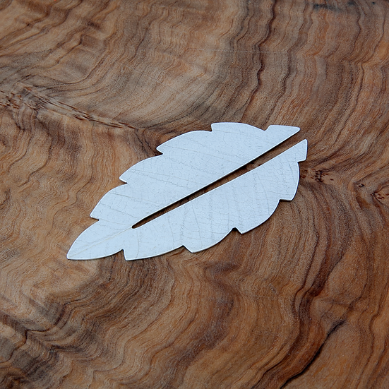 Silver 'Leaf' bookmark