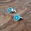 Thumbnail: 'Geo' cuff links with aqua resin