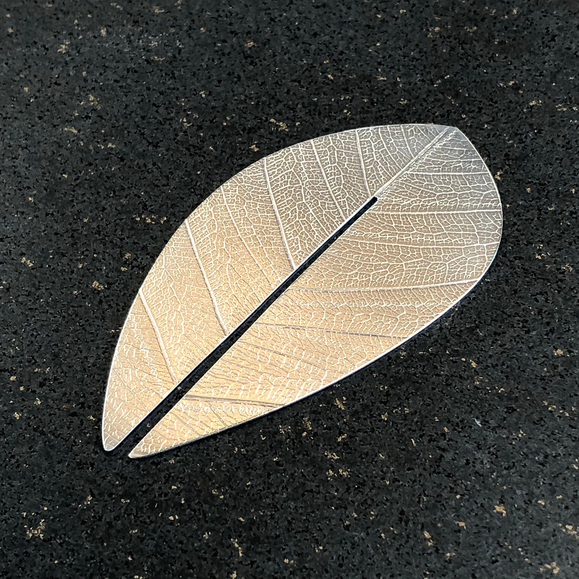 Silver leaf bookmark workshop - May 2019