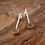 Thumbnail: 'Atom' earrings with yellow resin