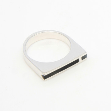 Mies ring - sterling silver and resin