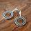 Thumbnail: 'Hoop' earrings with grey resin