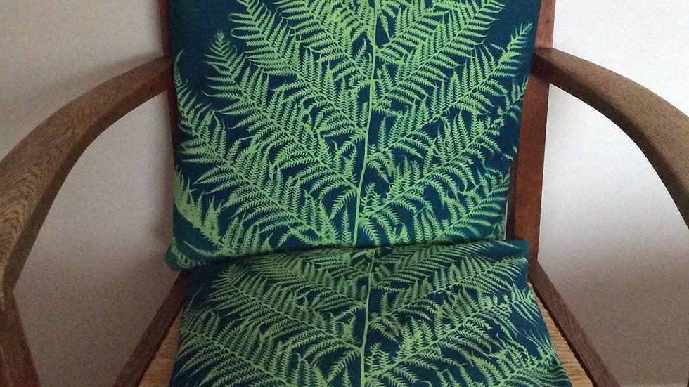 Sun Printed Fern Cushion Cover