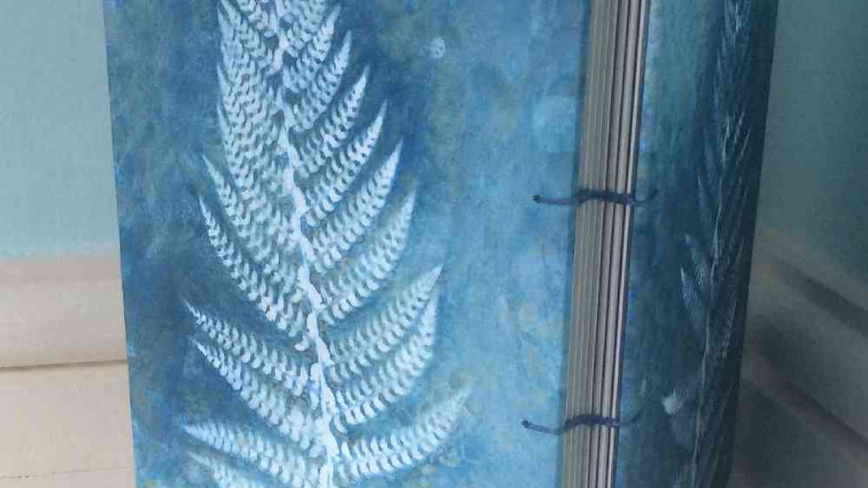 Unique Wet cyanotype Fern Book A5