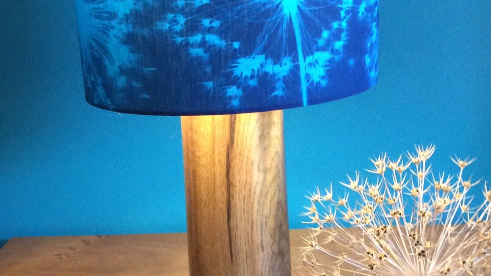 Reclaimed Oak Lamp base