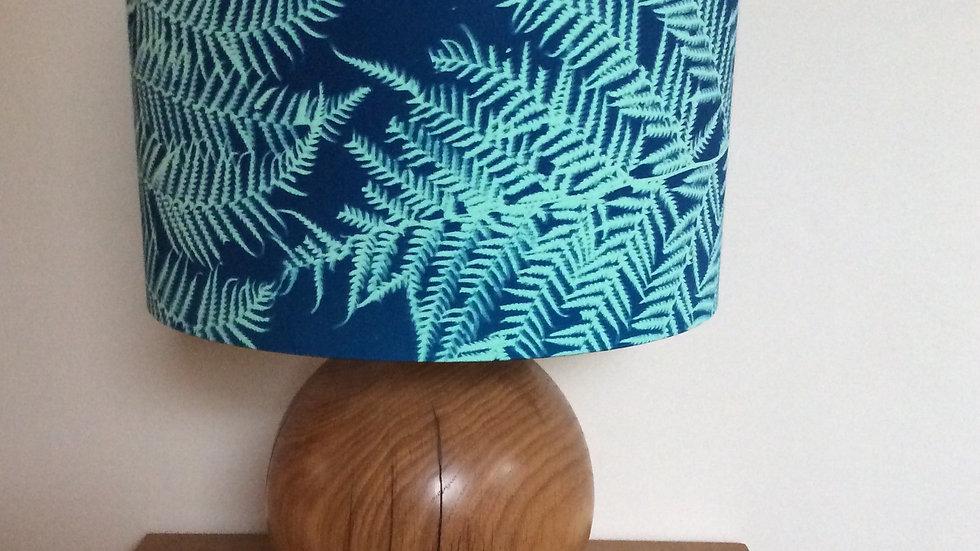 Teal Sun Printed Fern Lampshade 30cm