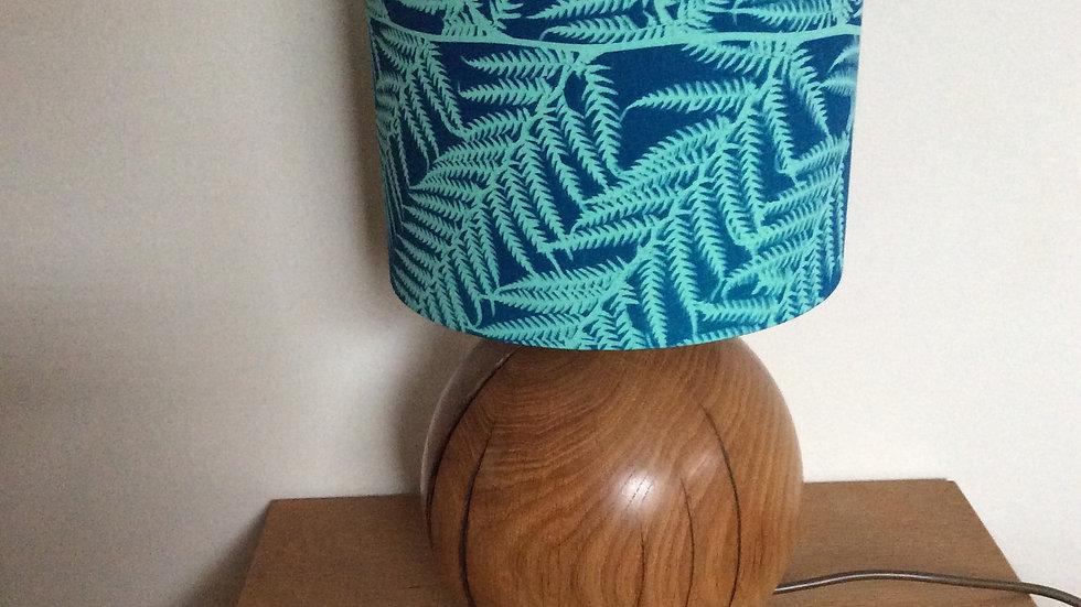 Teal Sun Printed Fern Lampshade 20cm