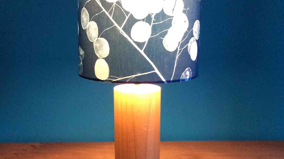 Handmade Sun Printed Honesty Lampshade