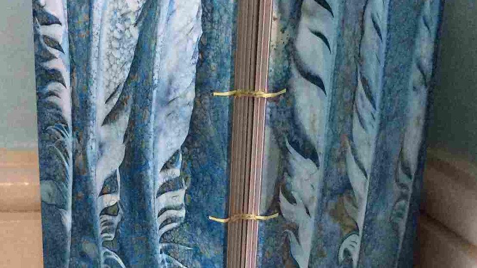 Feather Wet Cyanotype Handmade Book A5