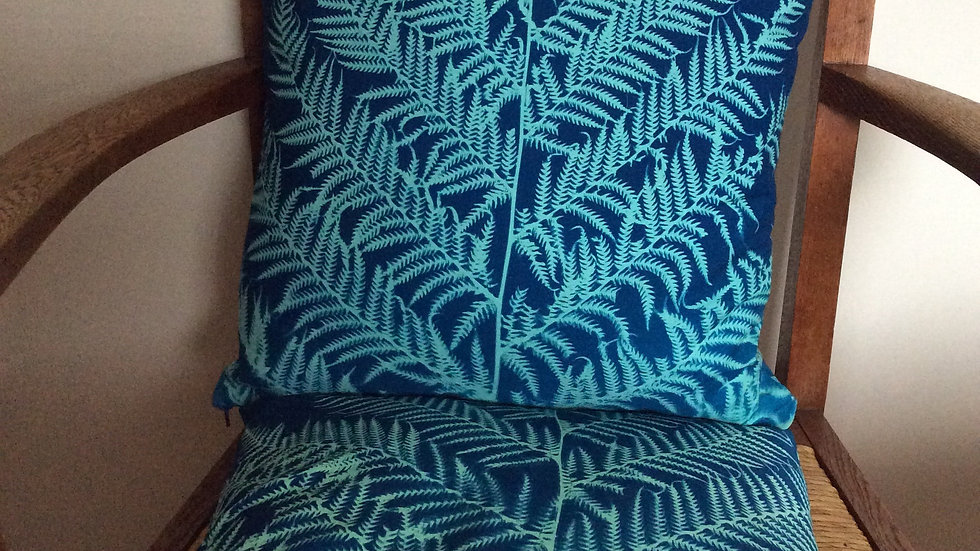 40 cm Sunprinted Fern Cushion