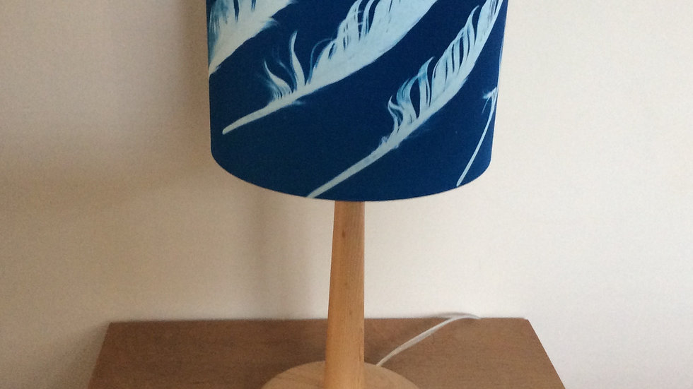 Sun Printed Seagull Feather Lampshade