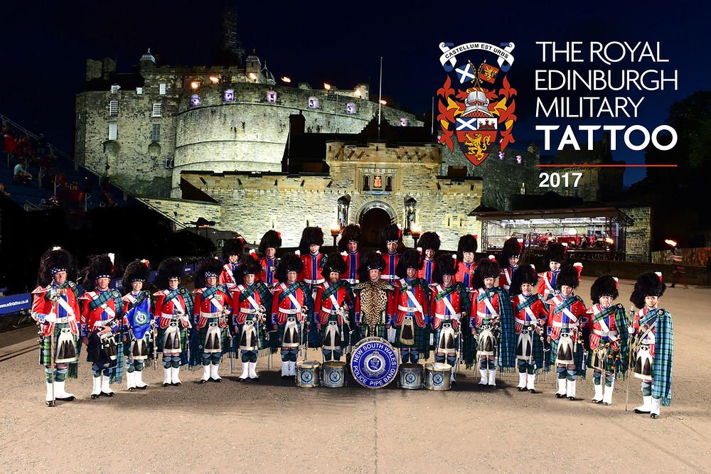 NSW Police  - Offical band photo - Edinburgh Castle