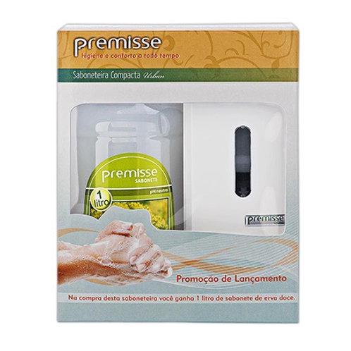 Kit Dispenser Saboneteira + 1 Litro de Sabonete Erva Doce soft