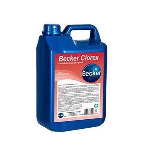Sanitizante Becker Clorex  5L - Hipoclorito de Sódio.