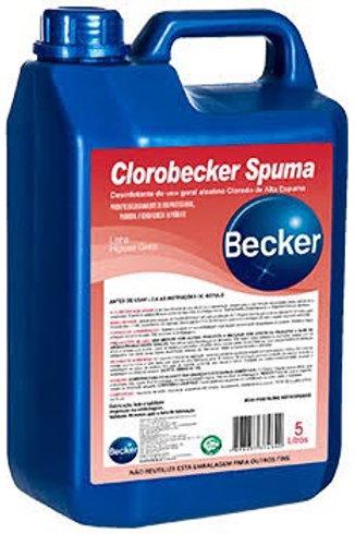 Desinfetante clorado - Clorobecker Spuma 5L - Becker