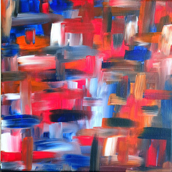 Colour Dance - Red, Orange and Blue
