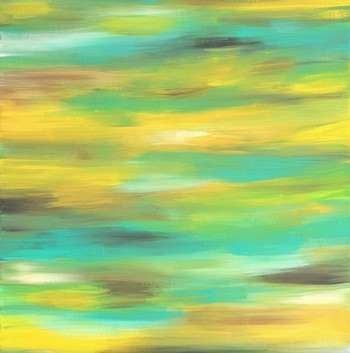 Colour Dance - Turquoise, Yellow and Brown