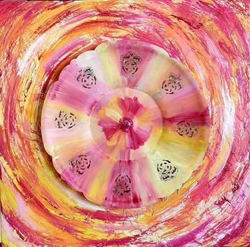 Pink Metal Flower