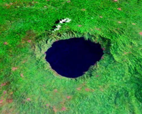 NASA image of Lake Bosomtwe