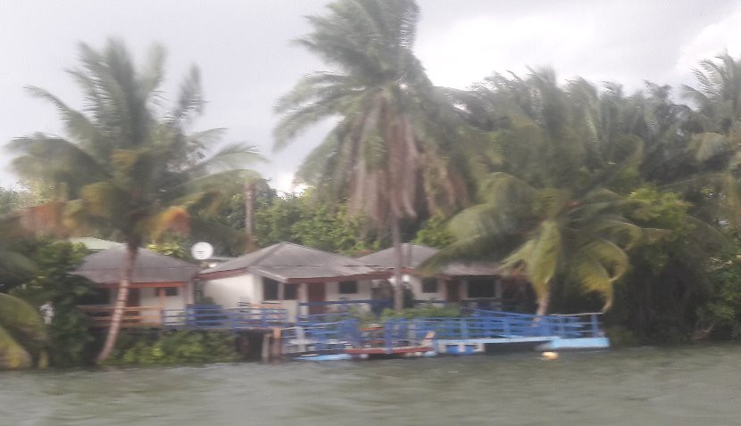 Our room on the Volta as seen from the river