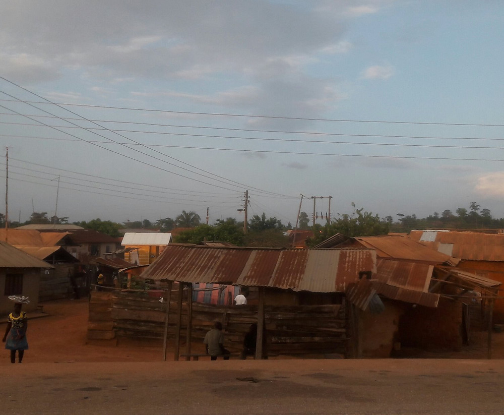 Typical Ghanaian village
