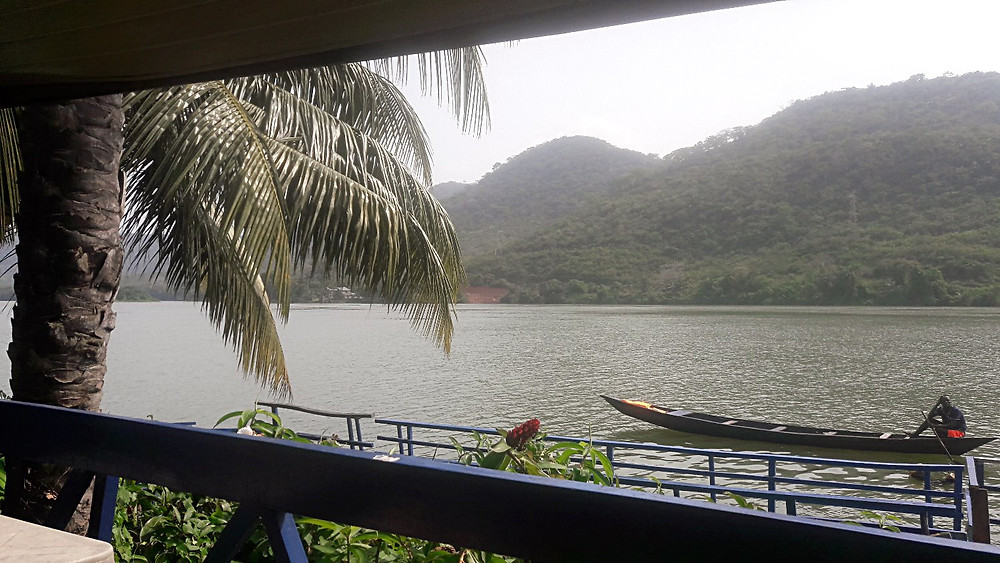 View of the Volta riverfrom our room