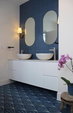 Thornleigh master bathroom tiles vanity.