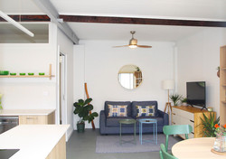 Garage converted into studio by the beach