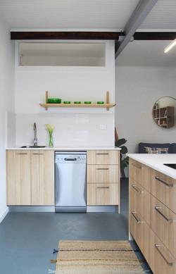 Malabar beachside studio kitchen