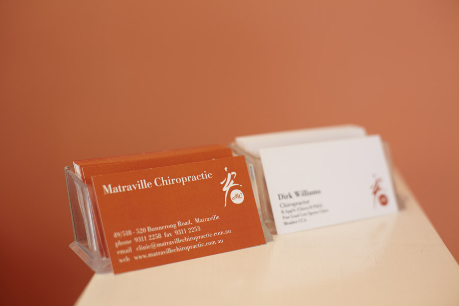TDC chiropractor cards