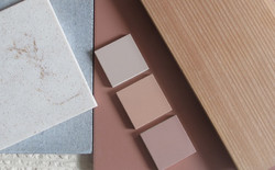 Samples of Mosa tiles, MgO board and timber