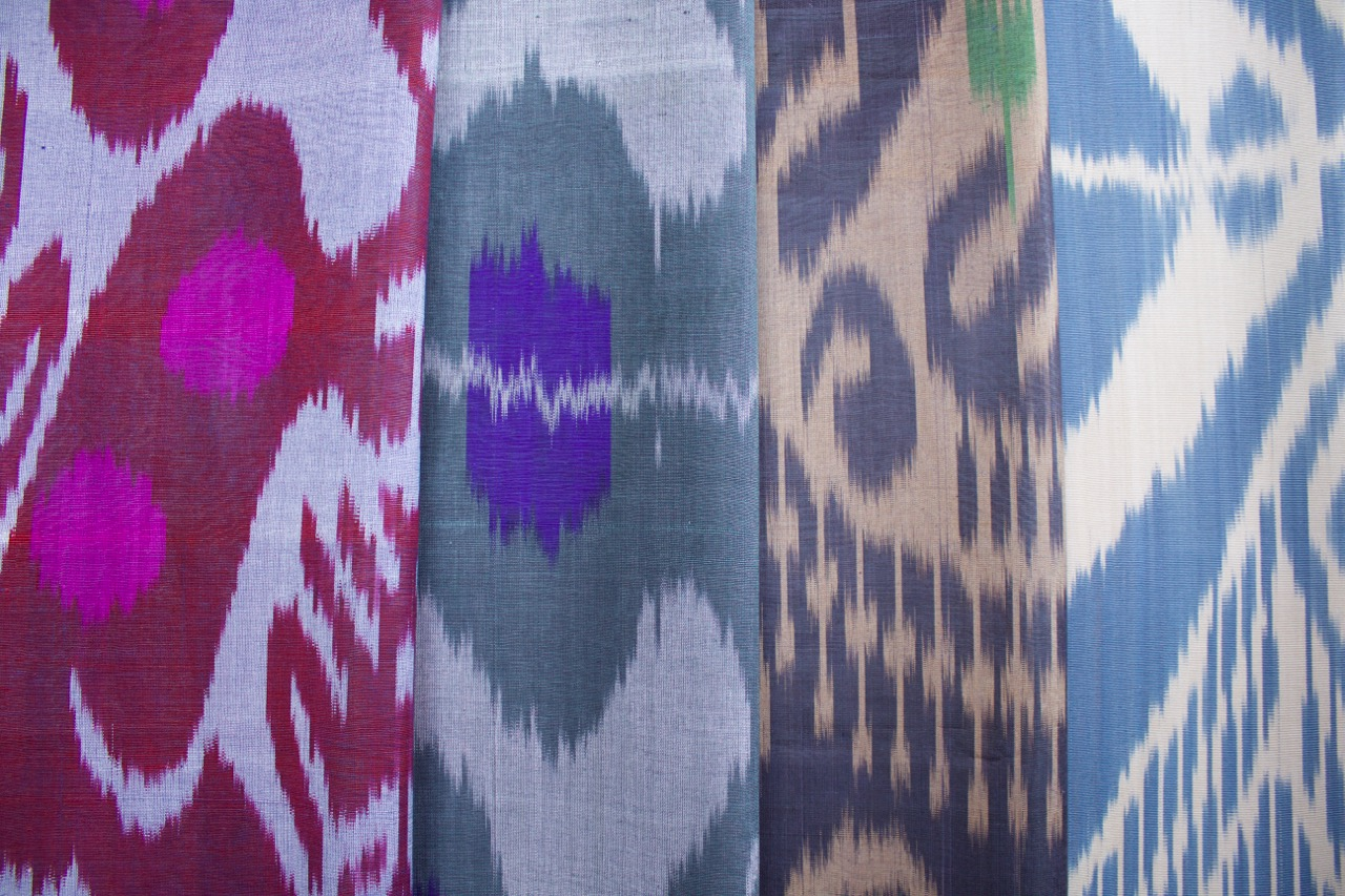 Istanbul silk ikats group landscape