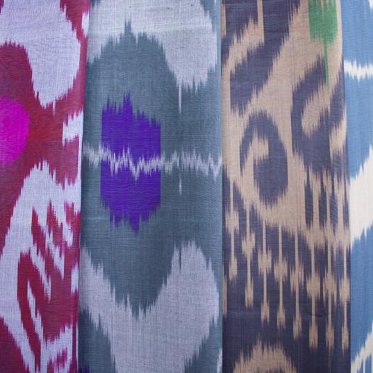 Silk ikat fabrics per metre
