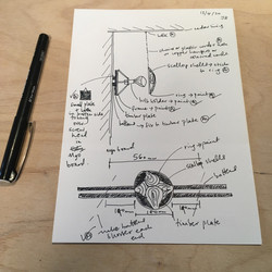 drawing and notes