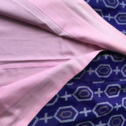 Vintage kimono (purple/grey/pink with pink/red lining)