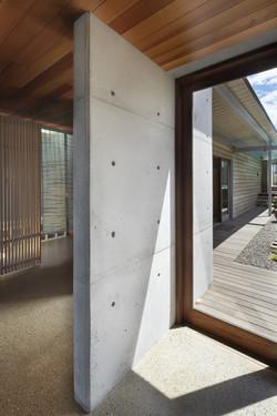 Indoor outdoor flow, timber door frames