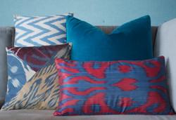 Velvet silk cushions still